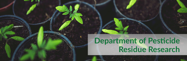 Department of Pesticide Residue Research
