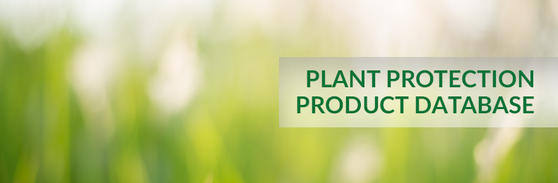 Plant protection product database